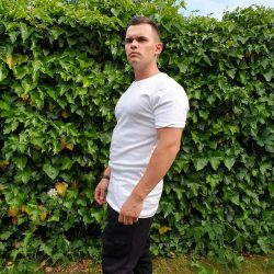 Biele predĺžené tričko VIPSK