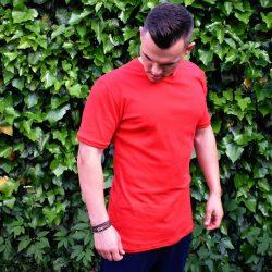 Červené predĺžené tričko VIPSK
