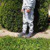 Detské tepláky šedé hrubé