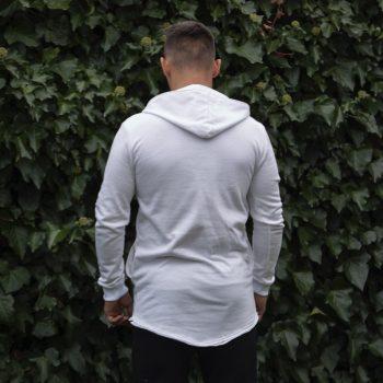 Biele tričko s kapucňou VIPSK