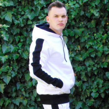 Bielo čierna mikina VIPSK