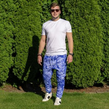 Modré tepláky a biele tričko VIPSK