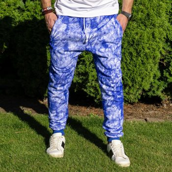 Modré batikované tepláky VIPSK