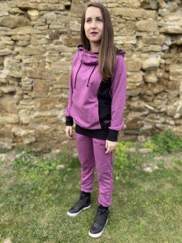 Ženská fialovo čierna súprava VIPSK