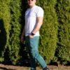 Diamant jeans tepláky a biele tričko VIPSK
