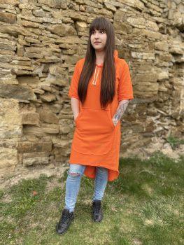 Oranžové tenšie šaty VIPSK