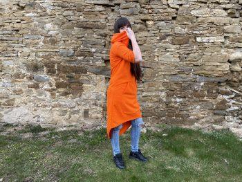 Oranžové letné šaty VIPSK