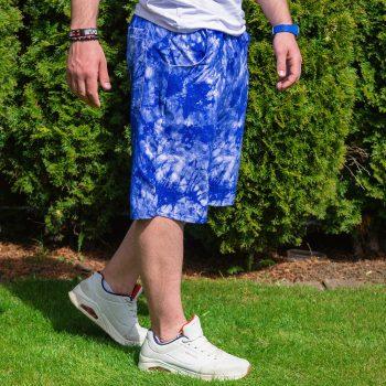 Modré batikované kraťasy VIPSK